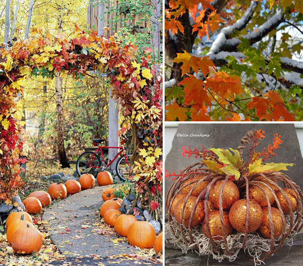Outdoor decor for fall decorating ideas for Pictures of fall decorations for outdoors